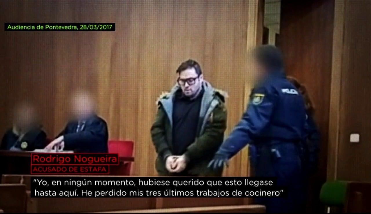 Rodrigo Nogueira, acusado de estafa, ante el juez