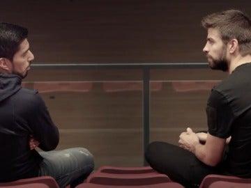 Piqué entrevista a Luis Suárez