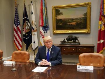 En la imagen, el presidente estadounidense, Donald J. Trump