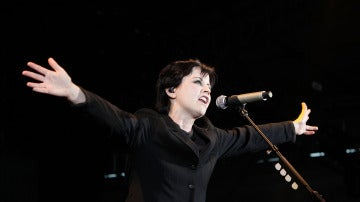 Dolores O'Riordan, en un concierto de The Cranberries