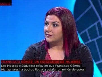 Rosana Macieira, víctima del estafador de mujeres Gómez Manzanares