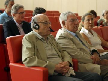 Félix Millet junto a Jordi Montull y Gemma Montull