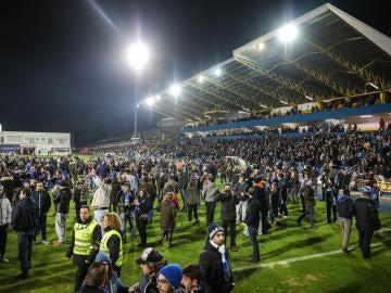 El partido entre Estoril y Oporto se suspende al descanso