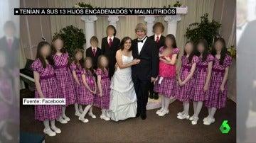Detienen a una pareja por torturar a sus 13 hijos, que fueron encontrados encadenados y malnutridos