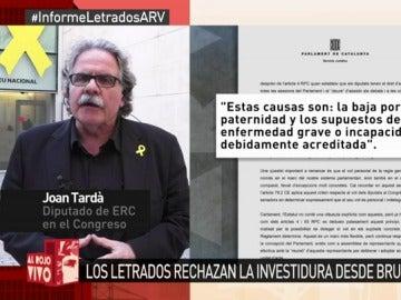 Joan Tardà, en Al Rojo Vivo