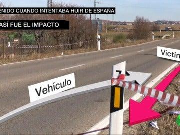 Un vecino que escuchó al autor del atropello en Fuente el Saz decir que había sido él y que huía de España posibilitó su detención