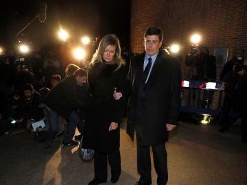 Los padres de Diana Quer, a su llegada a la misa funeral