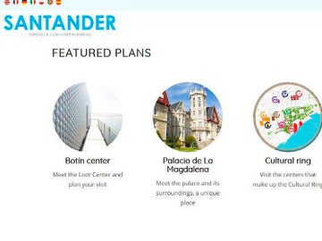 Captura Web Oficicial de Turismo de Santander