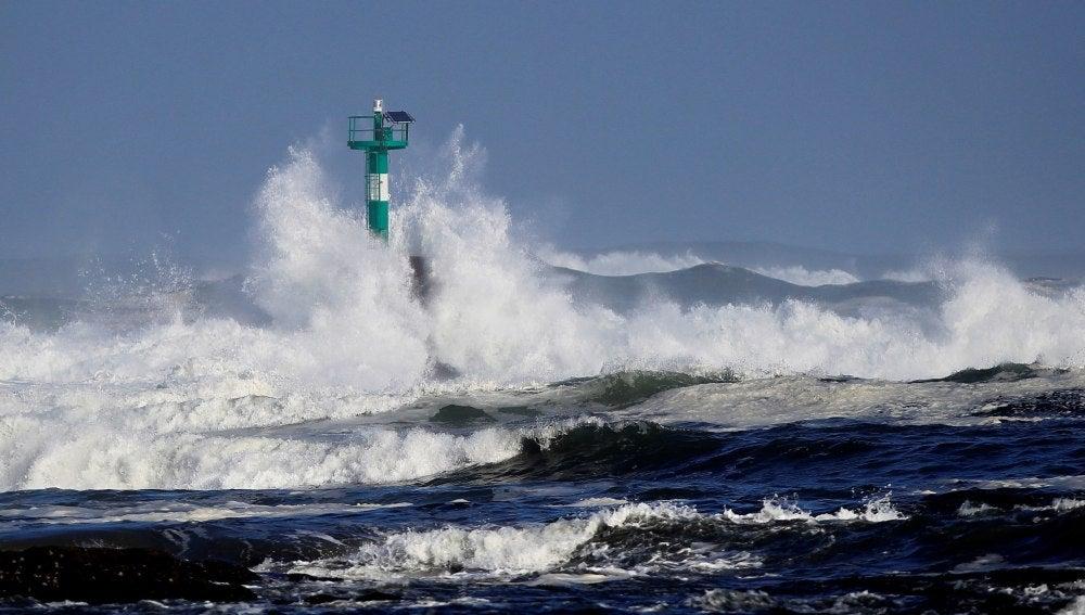 Imágenes del temporal en Lugo