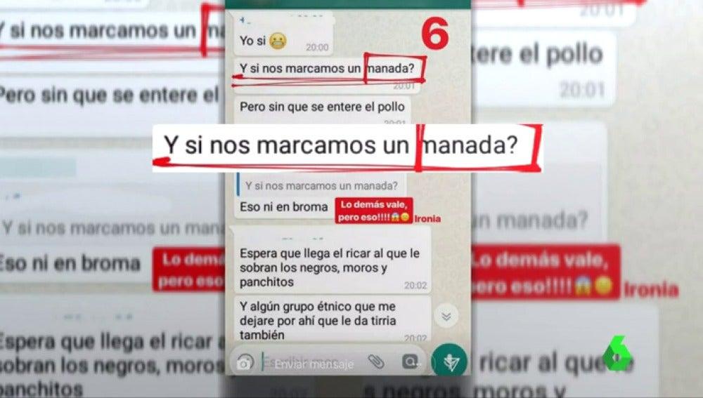 """Una joven denuncia a un grupo de chicos por hablar en WhatsApp de """"marcarse una manada"""" con ella"""