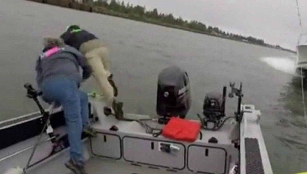 Pescadores en Oregón