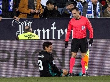 Vallejo, lesionado en el partido de Copa ante el Leganés