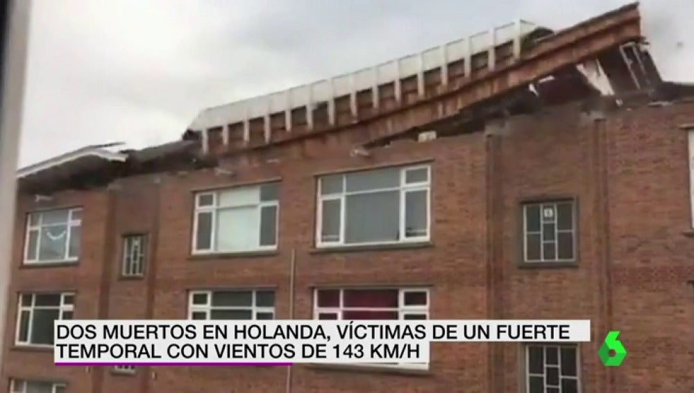 Dos muertos en Holanda, víctimas de un fuerte temporal con vientos de 143 kilómetros por hora