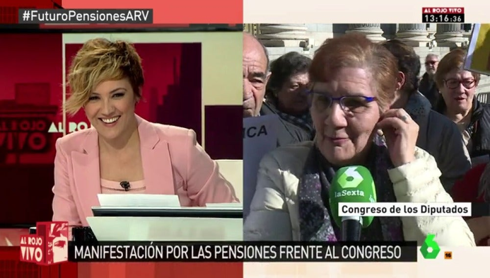 Ángela, pensionista