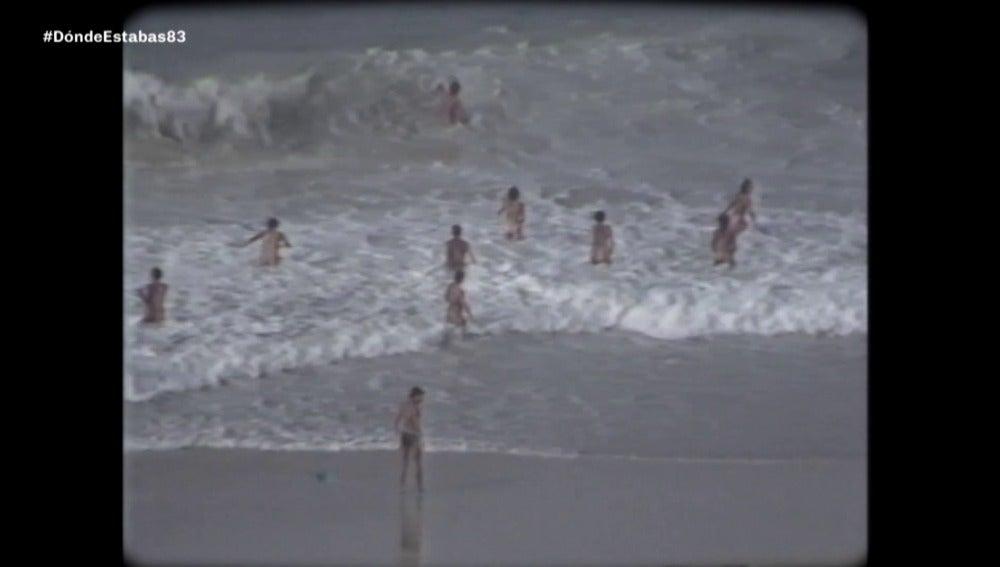 Nudismo en una playa gallega