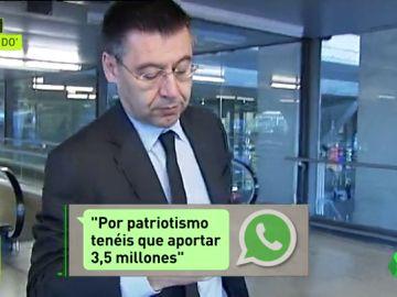 'El Mundo': Una exconsejera pidió al Barça 3,5 millones para pagar la fianza a Artur Mas