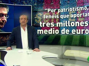 Piden al Barça 3,5 millones por patriotismo