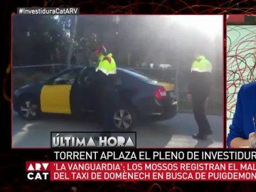 Taxi de Xavier Domènech registrado por los Mossos d'Esquadra