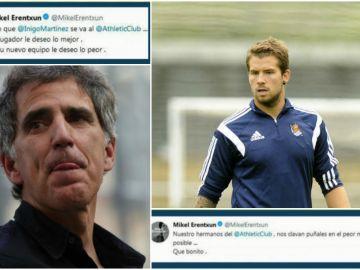 Reacción de Mikel Erentxun en Twitter tras el fichaje de Íñigo Martínez