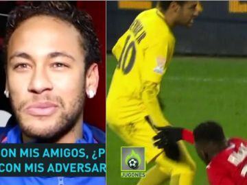 Neymar habla sobre su gesto con un jugador del Rennes