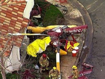 Helicóptero estrellado contra una casa en EEUU