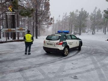 Cumbre de Gran Canaria nevada