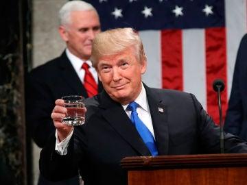 Donald Trump en su discurso sobre el Estado de la Unión