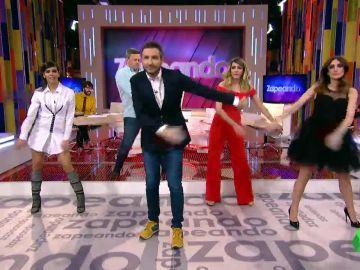 Así es la versión del baile  'Swish Swish' de Javier Calvo en los cuerpos de los zapeadores