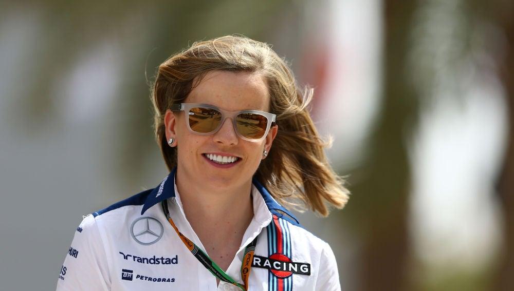 Susie Wolff, durante un Gran Premio