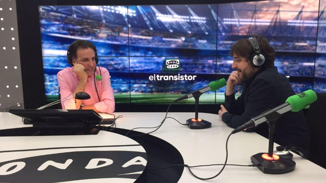 Jordi Évole con José Ramón de la Morena en El Transistor.