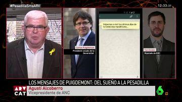 """Agustí Alcoberro: """"Son mensajes privados que han sido robados. El Puigdemont que nos interesa es el público"""""""