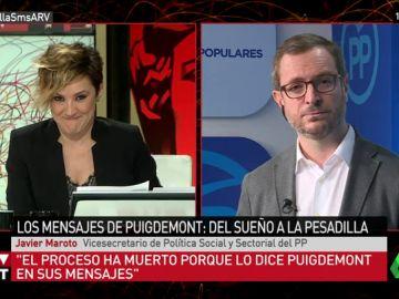 """Javier Maroto no ve comparable los SMS de Puigdemont con el """"se fuerte"""" a Bárcenas: """"No me pregunte sobre eso"""""""
