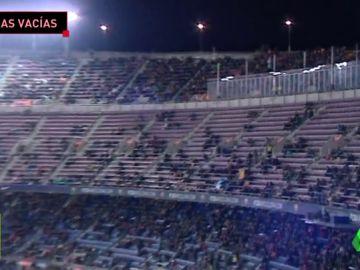 El Camp Nou registra la peor entrada de la temporada ante el Valencia
