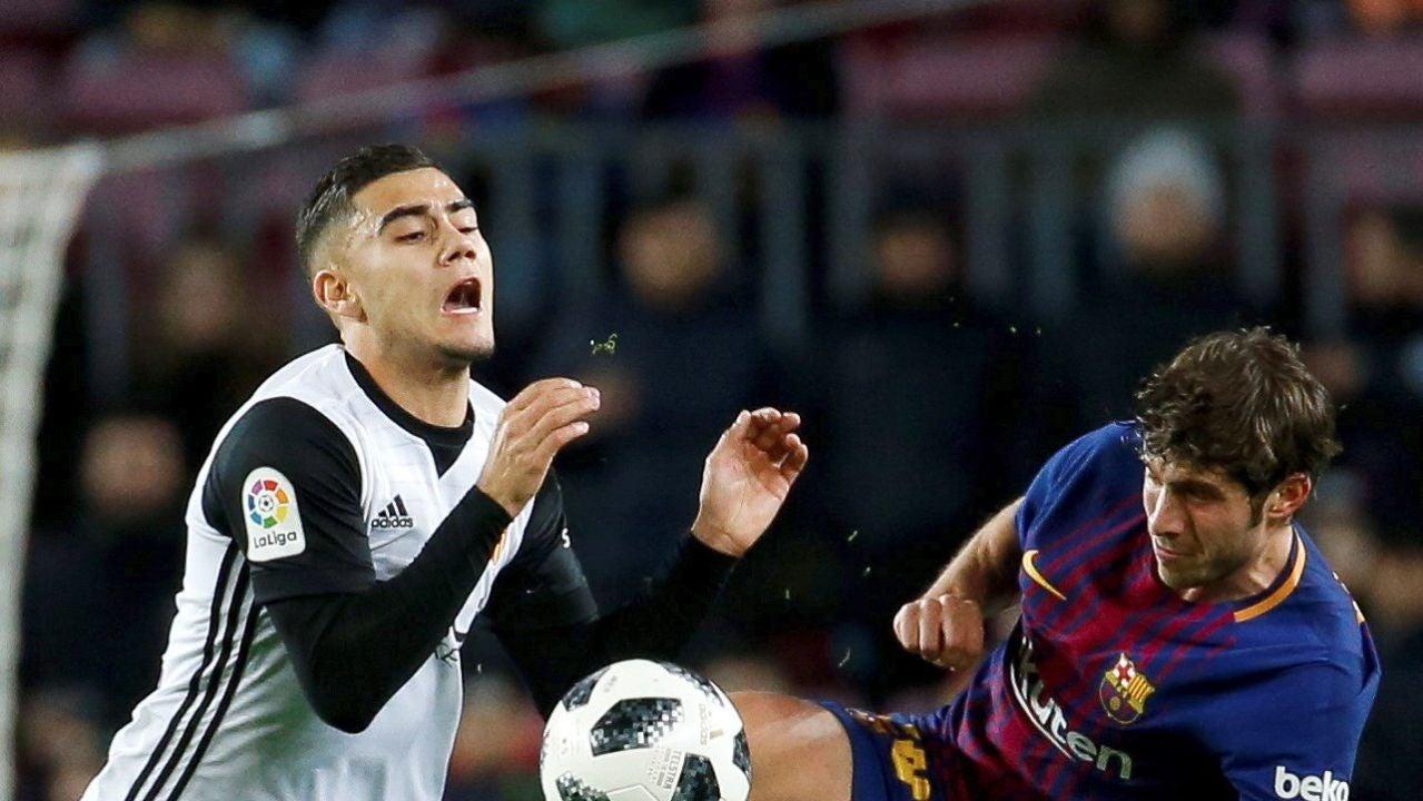 Pereira se duele tras la entrada de Sergi Roberto