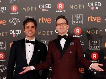 Los presentadores de la gala  Ernesto Sevilla y Joaquín Reyes