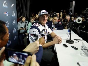 Rob Gronkowski, de los Patriots de Nueva Inglaterra