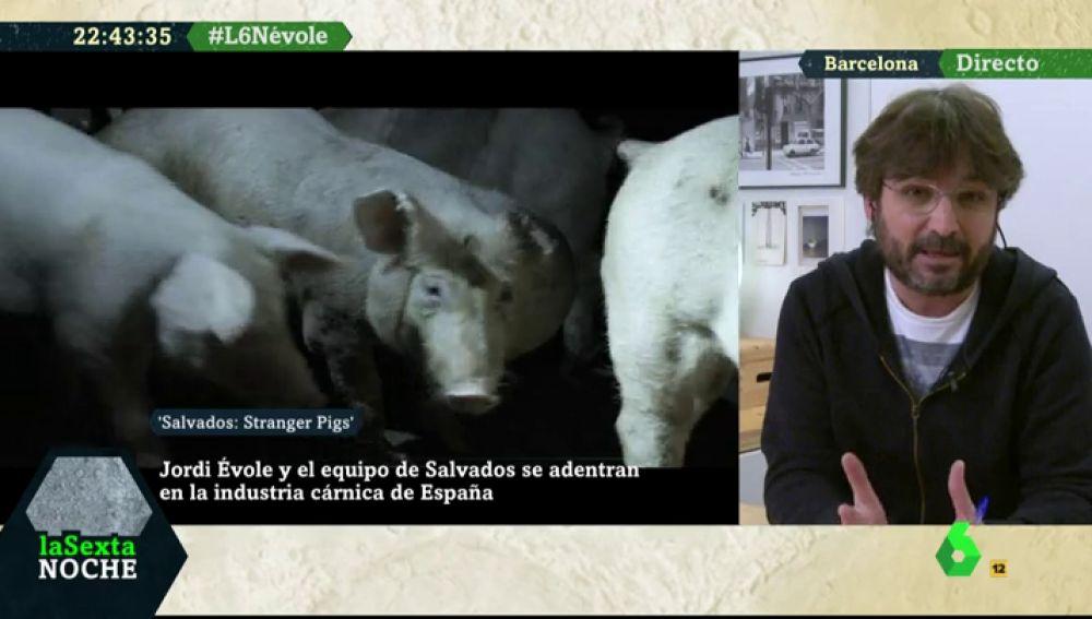 Jordi Évole, durante su entrevista en laSexta Noche