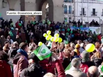 Manifestación en Cáeeres