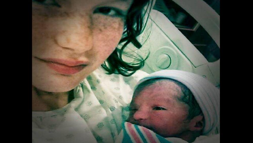 La bebé poco tiempo después de nacer