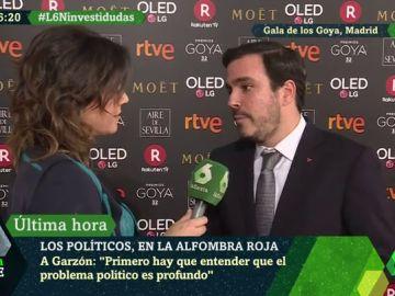 Alberto Garzón en la alfombra roja de los premios Goya 2018