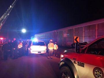 Accidente de tren en Carolina del Norte