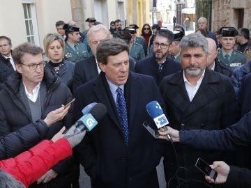 Alberto Núñez Feijóo, Juan Carlos Quer y Juan José Cortés