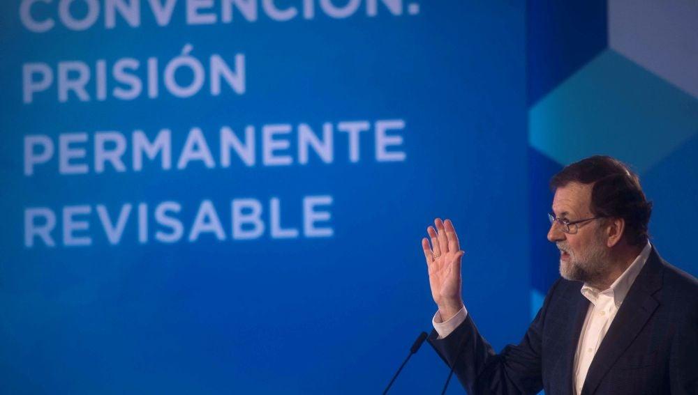 El presidente del Gobierno, Mariano Rajoy, interviene en la Convención Nacional del PP sobre la prisión permanente revisable