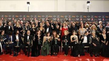 Foto de los ganadores de los Goya 2018
