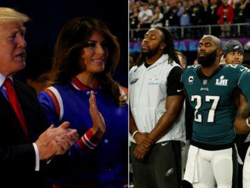 """Trump pidió """"respeto"""" por el himno y la bandera de Estados Unidos"""