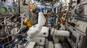 Las piernas de Robonaut llegaron a la EEI en el 2014