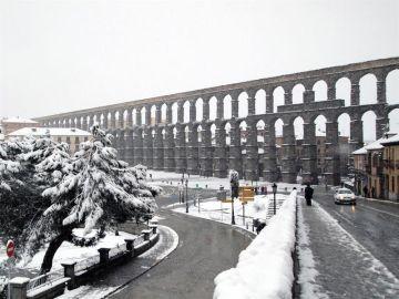 Día de nieve en Segovia