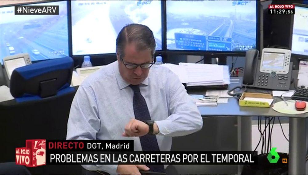 Gregorio Serrano en la sede de la DGT en Madrid