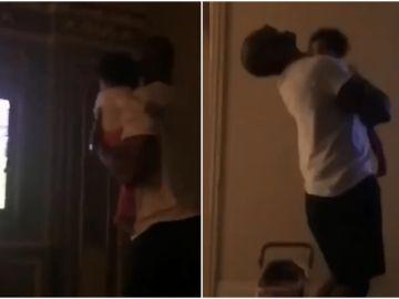 Kobe Bryant celebra la victoria de los Eagles con su hija en brazos