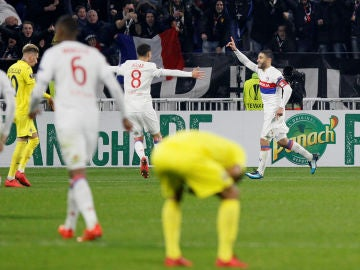 Fekir celebra su gol ante el Villarreal
